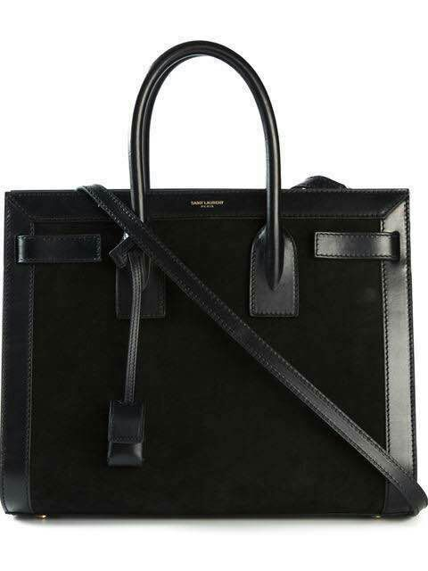 2015 New Saint Laurent Bag Cheap Sale- Saint Laurent SMALL SAC DE JOUR Bag in Black