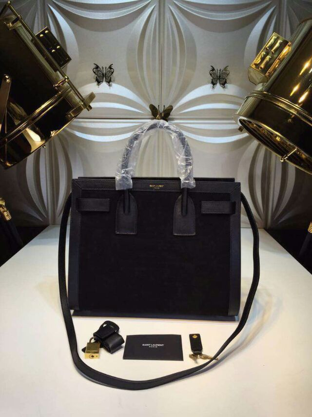 2015 New Saint Laurent Bag Cheap Sale- Saint Laurent Nano SAC DE JOUR Bag in Black