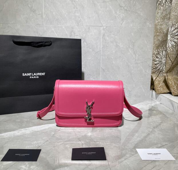 2020 cheap Saint Laurent small solferino box hot pink