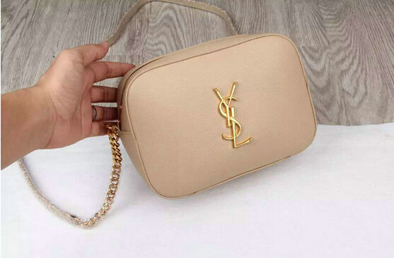 YSL 2015 Collection Outlet-Saint Laurent Camera Cross-Body Bag in Apricot Leather