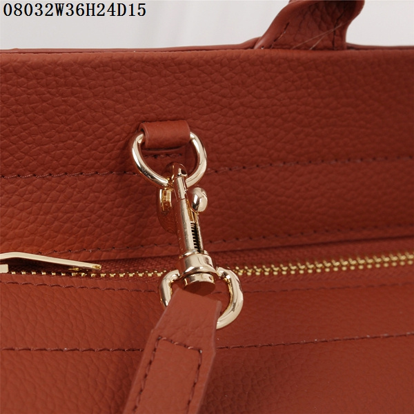 F/W 2015 New Saint Laurent Bag Cheap Sale-Saint Laurent Medium Cabas RIVE GAUCHE Bag in Brick Red Grained Leather