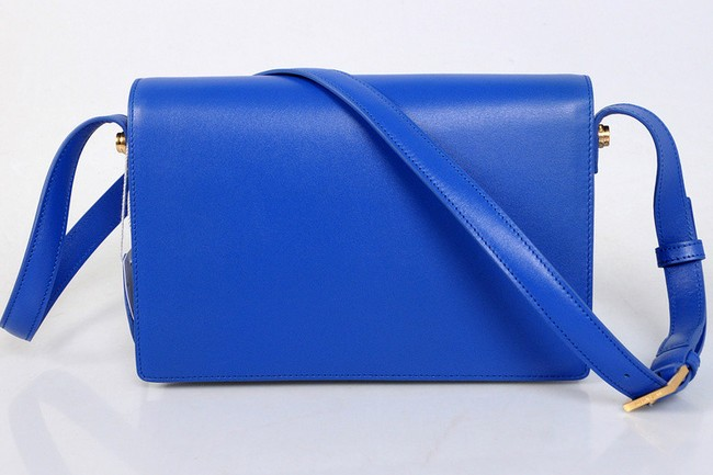 2013 YSL Classic Medium Lulu Bag in blue leather - Click Image to Close