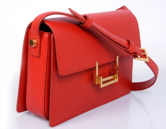 2013 YSL Classic Medium Lulu Bag in Red leather