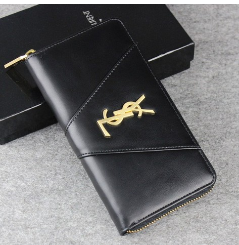 -2014 latest Saint Laurent Classic Monogramme Saint Laurent wallet In Black