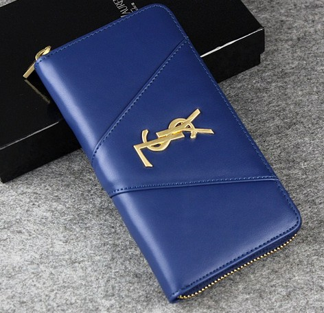 -2014 latest Saint Laurent Classic Monogramme Saint Laurent wallet In blue,YSL WALLET 2014