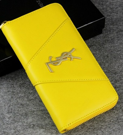 -2014 latest Saint Laurent Classic Monogramme Saint Laurent wallet In Yellow,YSL WALLET 2014