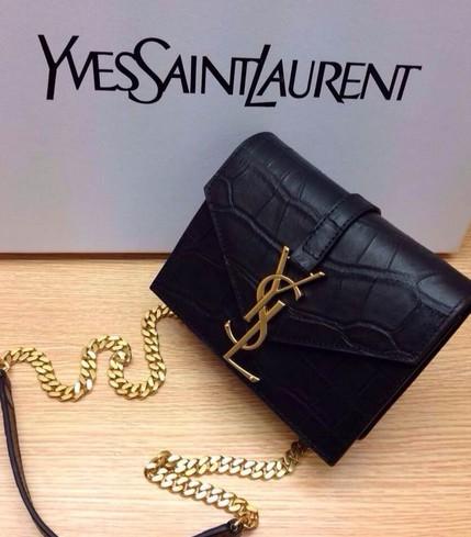 2014 Saint Laurent Monogramme Saint Laurent Candy Bag in black ...