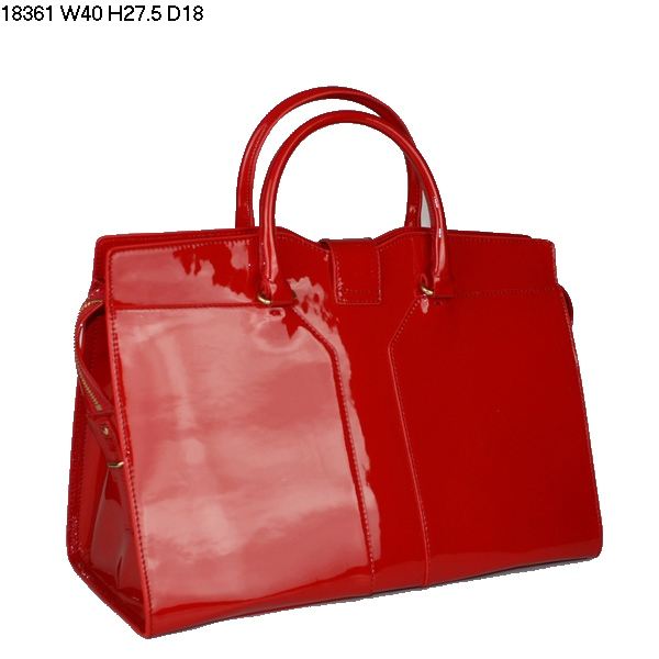2015 New Saint Laurent Bag Cheap Sale-Yves Saint Laurent Cabas Chyc In Cherry