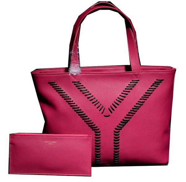 a14ae3c629 Yves Saint Laurent HandbagsMore · 2014 Fall/Winter YSL Grained Leather Tote  Bag Y7138 with Zip Pouch