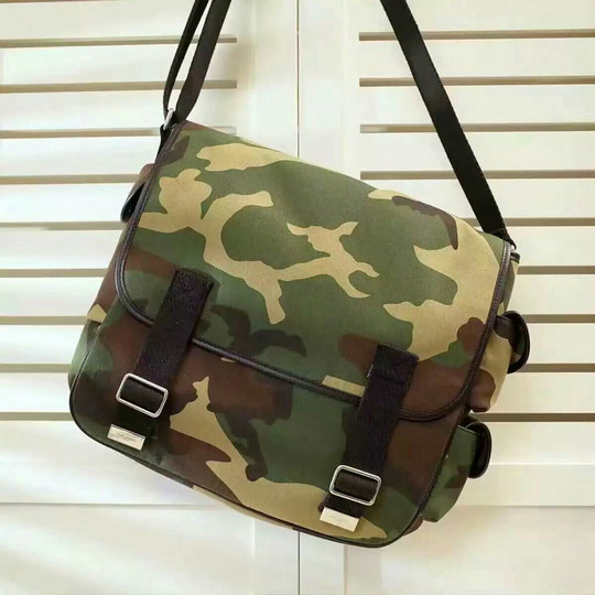 2016 Mens Saint Laurent Bags-Army Messenger Bag in Camouflage