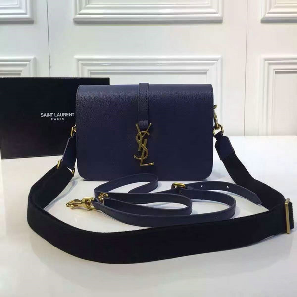 2016 A/W YSL Bag Cheap Sale-Saint Laurent Monogram Universite Bag in Blue Leather