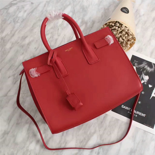 2013 Yves Saint Laurent Classic Sac De Jour bag red,YSL BAGS SALE