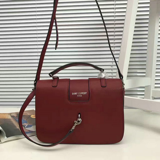 YSL 2017 Collection-Saint Laurent Medium Charlotte Messenger Bag in Red