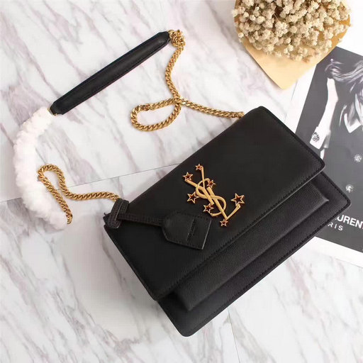 YSL Spring/Summer 2017 Collection-Saint Laurent Medium Sunset Monogram Bag with stars YSL logo