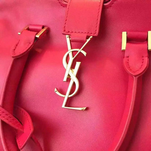 Limited Edition!2016 YSL Collection Outlet-Saint Laurent Small Monogram Cabas Bag in Red Leather