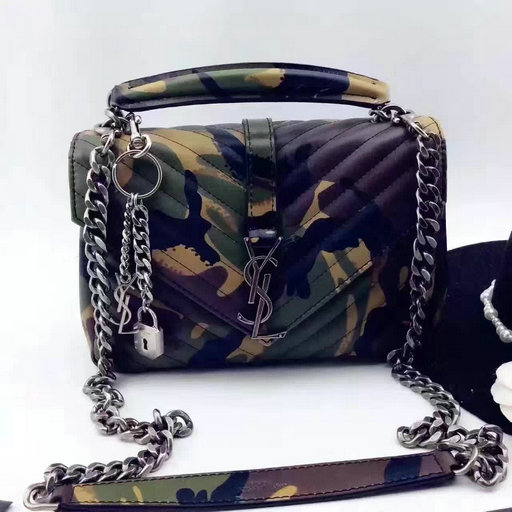 Limited Edition!2016 New Saint Laurent Bag Cheap Sale-Saint Laurent Classic Medium Monogram Satchel in Camouflage Matelasse Leather
