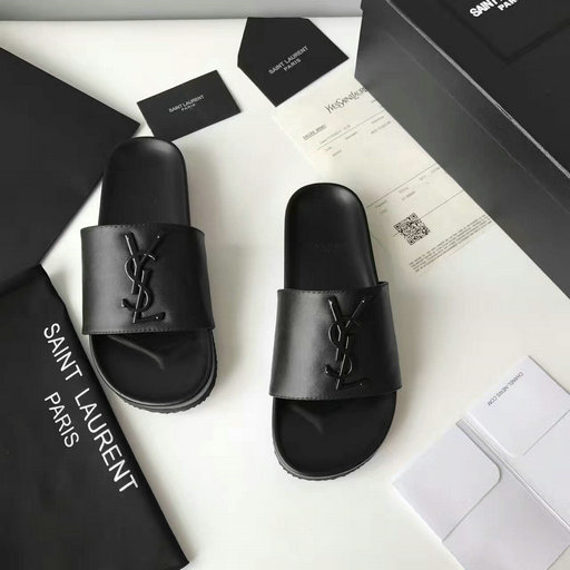 YSL Summer 2017 Collection-Saint Laurent Joan 05 Slide Sandal in Black Leather