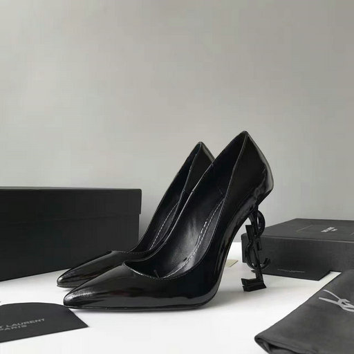2017 Pre-fall Saint Laurent Opyum 110 Pump in Black Leather