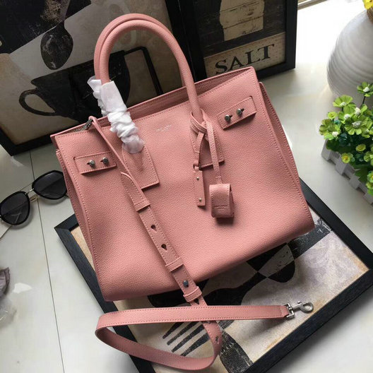 2695279b60 ... YSL Spring/Summer 2017-Saint Laurent Sac De Jour Bag in Pink Grain  Leather