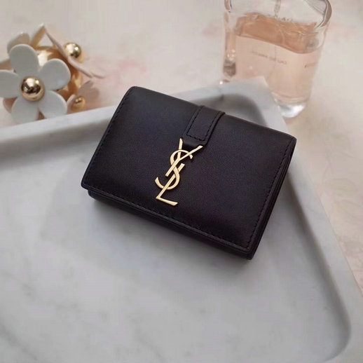 2018 S/S Saint Laurent 6 Key Holder in Black Calfskin Leather