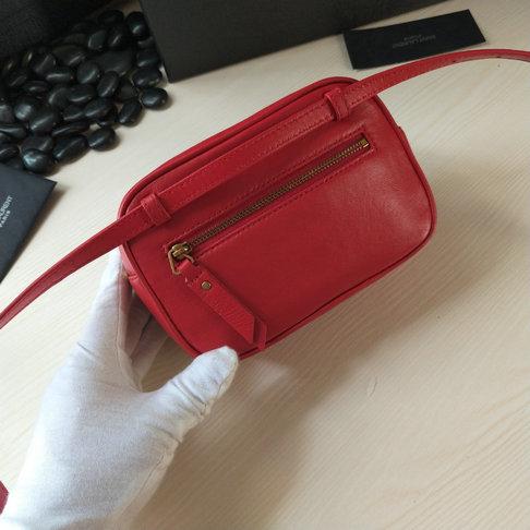 2018 Saint Laurent Lou Belt Bag In Red Leather 534817c