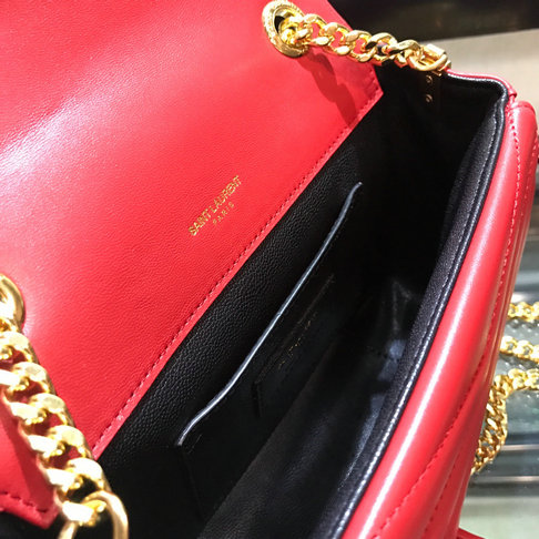 2018 S/S Saint Laurent Sulpice Small Bag in Red Matelasse Leather