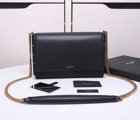 2018 Cheap Saint Laurent Zoe Bag in Black Leather