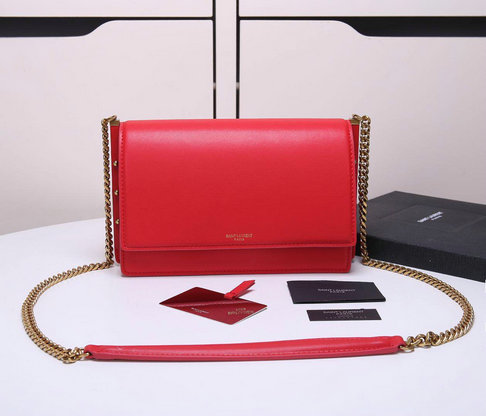 2018 Cheap Saint Laurent Zoe Bag in Red Leather