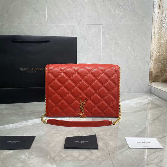 2019 Saint Laurent Becky Small Chain Bag in quilted lambskin leather