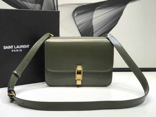 2020 Saint Laurent CARRE satchel in smooth leather