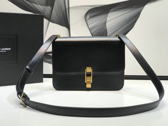 2019 Saint Laurent CARRE satchel in smooth leather