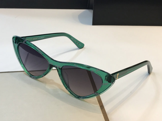 2019 Saint Laurent Lily Cat Eye Acetate Sunglasses