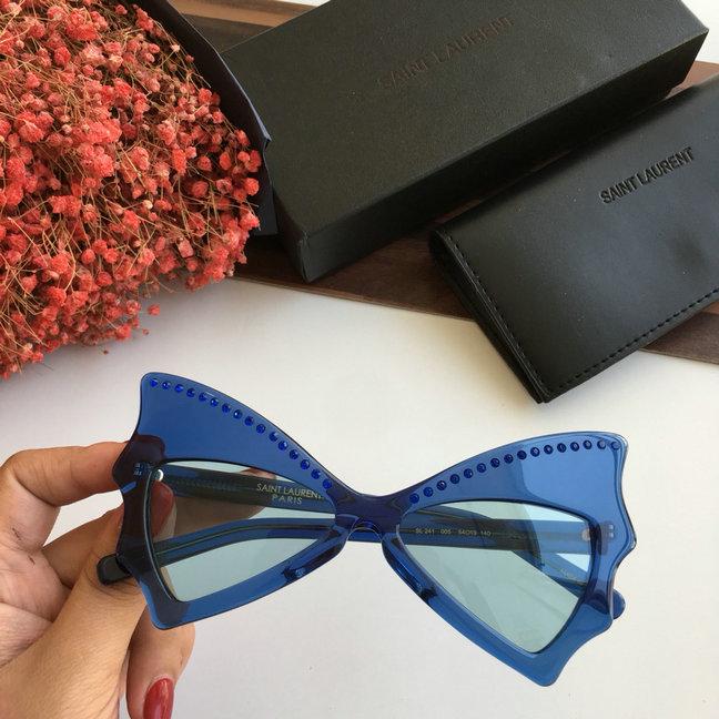 0c06f2bcf 2019 Saint Laurent New Wave SL 241 Jerry Bat Sunglasses for Women