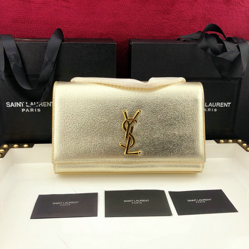2019 Saint Laurent Kate Satchel in Gold Leather