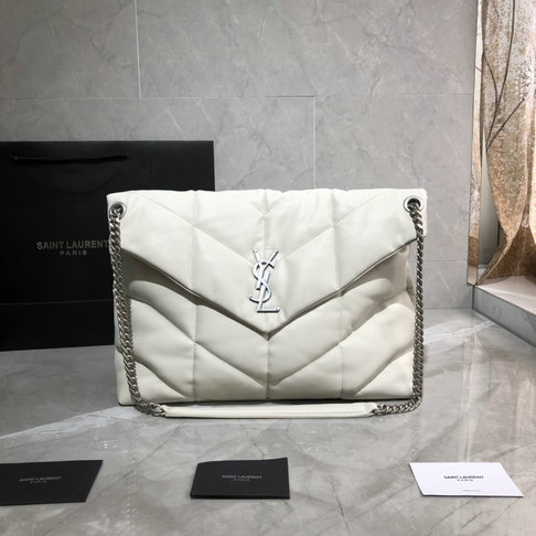2019 Saint Laurent Loulou Puffer Medium Bag in quilted lambskin leather