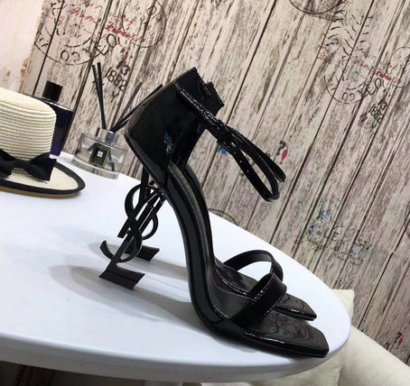 2019 S/S Saint Laurent Opyum Sandals with black YSL heel