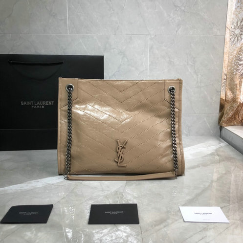 2019 Saint Laurent NIKI Medium shopping bag in crinkled vintage leather