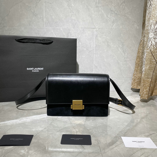 2020 Saint Laurent Medium Bellechasse Bag in calf leather and suede