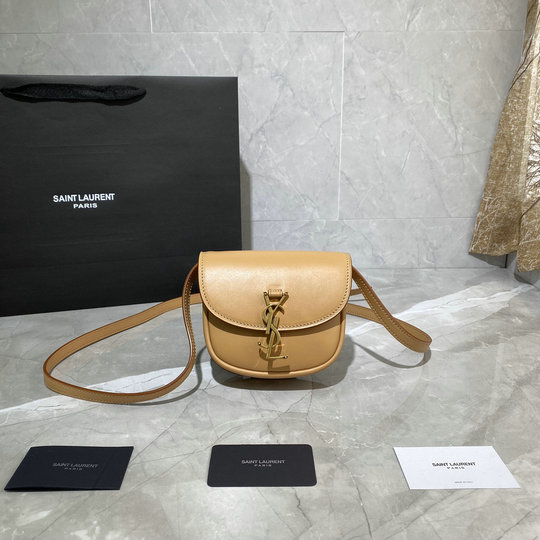 2020 Saint Laurent Kaia Mini Satchel in smooth vintage leather