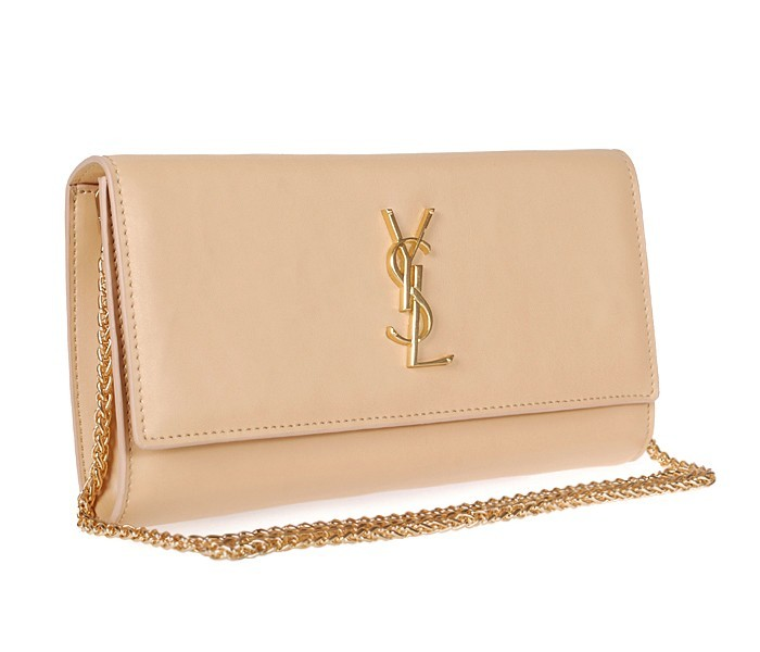 -2014 Discount YSL clutch bag apricot,Ysl bags on sale