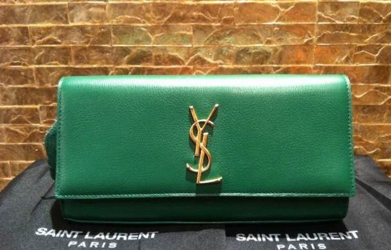 2014 Cheap Yve Saint laurent wallet in green,Ysl wallet2014