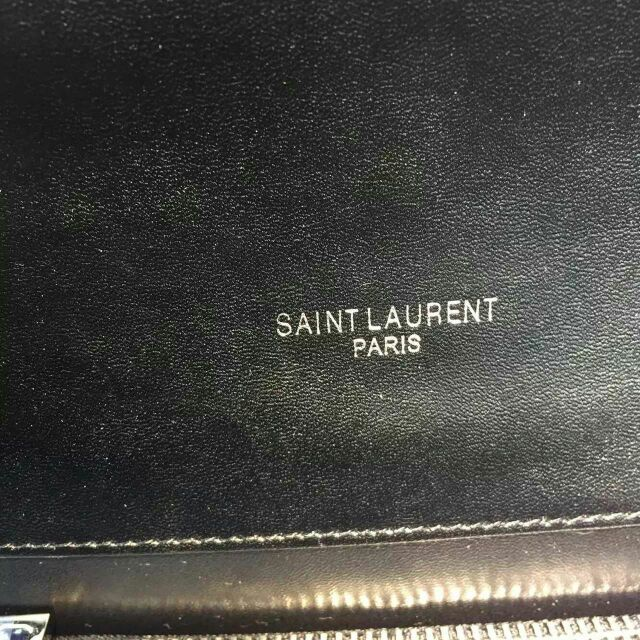 2015 New Saint Laurent Bag Cheap Sale-Saint Laurent Classic Monogram Satchel in Black Grain de Poudre Textured with Rivets