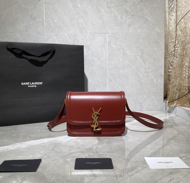 2020 cheap Saint Laurent solferino small satchel in box saint laurent leather red