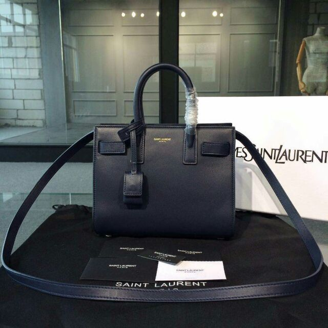 2015 New Saint Laurent Bag Cheap Sale-Saint Laurent Classic Nano Sac De Jour Bag in Blue Leather
