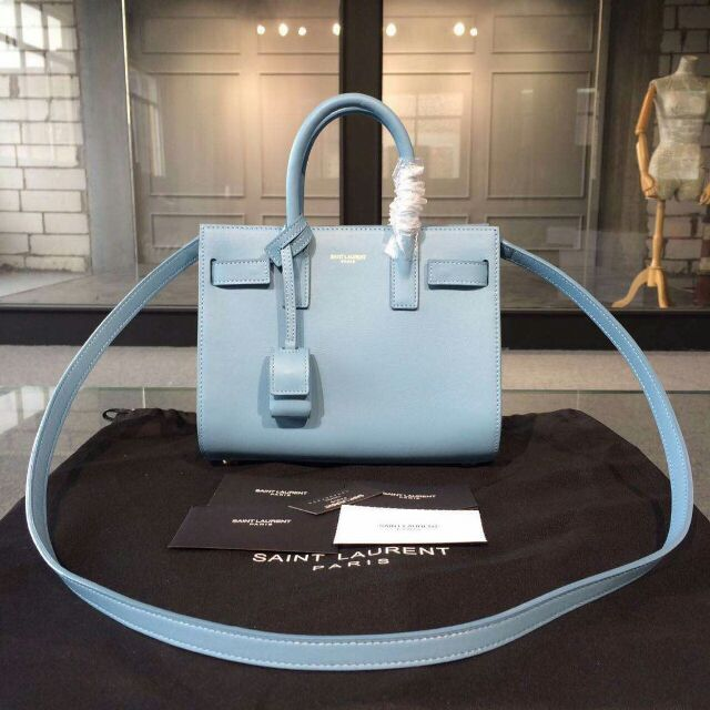 2015 New Saint Laurent Bag Cheap Sale-Saint Laurent Classic Nano Sac De Jour Bag in Indigo Leather