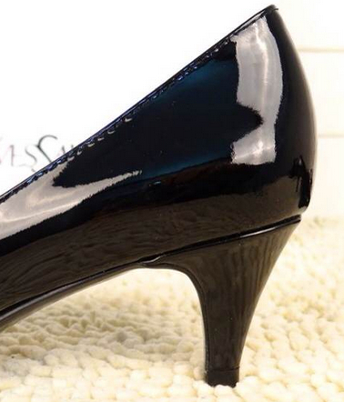 Saint Laurent Kitten 50 Bow Pump in Black Patent Leather,YSL Shoes 2014