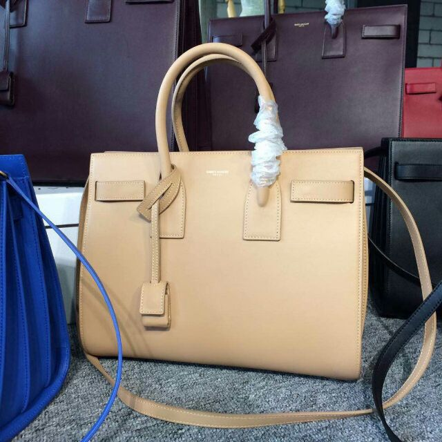 2015 New Saint Laurent Bag Cheap Sale-Saint Laurent Classic Nano Sac De Jour Bag in Apricot Leather