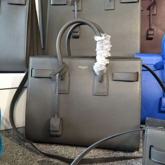 2015 New Saint Laurent Bag Cheap Sale-Saint Laurent Classic Nano Sac De Jour Bag in Fog Leather