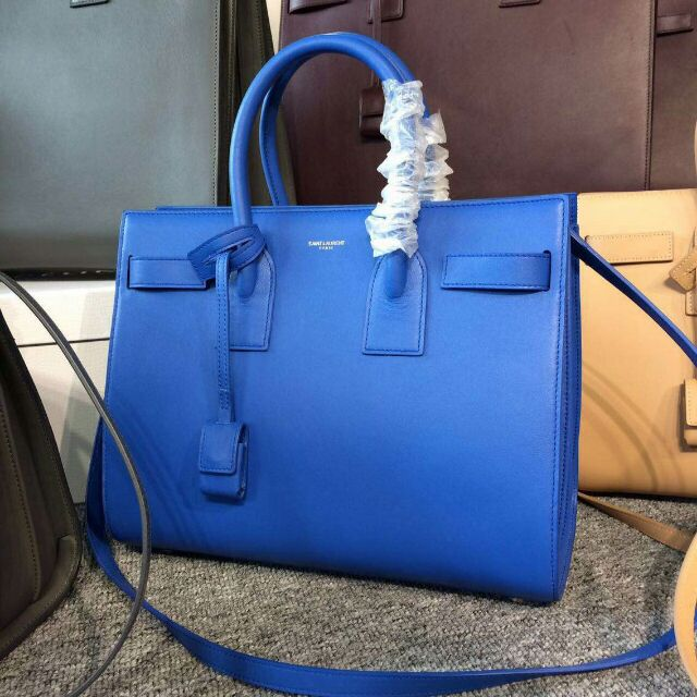 2015 New Saint Laurent Bag Cheap Sale-Saint Laurent Classic Nano Sac De Jour Bag in Royal Blue Leather
