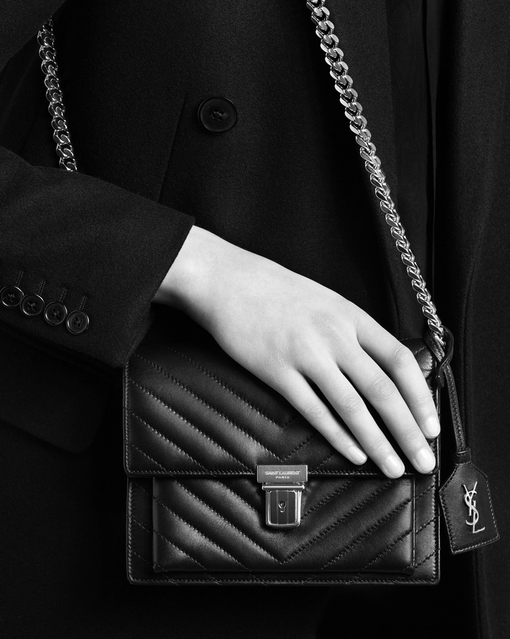 Fall/Winter 2015 Saint Laurent Bag Cheap Sale-Saint Laurent High School Satchel in Grey Matelasse Leather